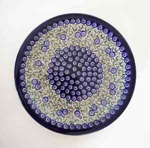 Unikat-Geschenk-grosser-flacher-Teller-aus-Bunzlauer-Keramik-Handarbeit-ni3202