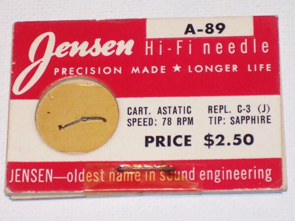 Jensen A-89 Needle Stylus Nos Replaces Astatic C-3 Free Shipping