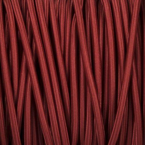 High Quality British Made Fabric Braided 3 Core Lighting Flex 0.5mm 120 Styles