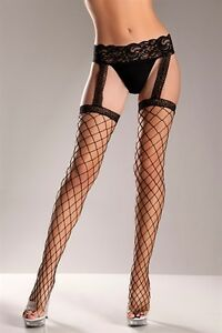 5c5937abe Fence Net Garter Belt Stockings New Adult Womens Sexy Valentine ...