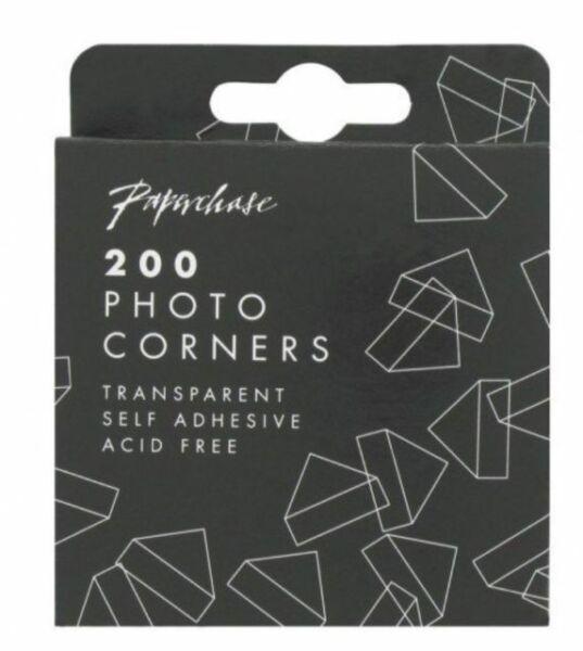 Vintage Pack Of 200 Photo Corners Album Fixers  Transparent Self Adhesive Album