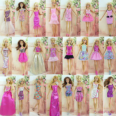 6x Fashion Mini Dress Wedding Party Skirt Summer Lady Clothes For Barbie Doll