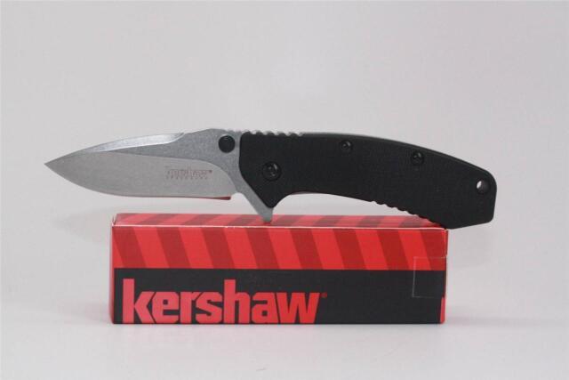 Kershaw Cryo Hinderer Plain Edge Assisted Folder Knife G10 Handle 1555G10