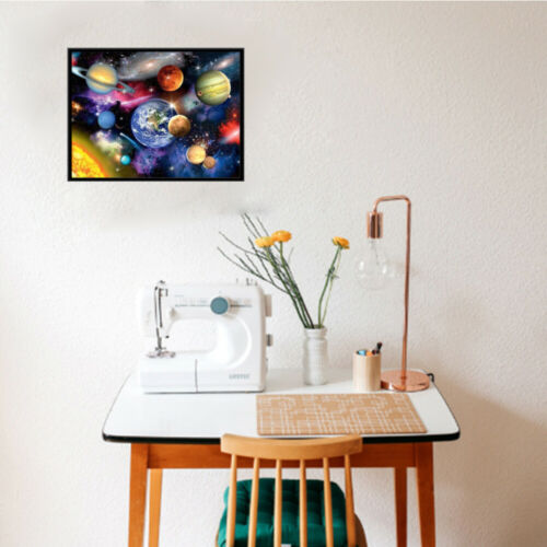 5D DIY Full Drill Diamond Painting Galaxy And Planets Embroidery Kit Decor Mural