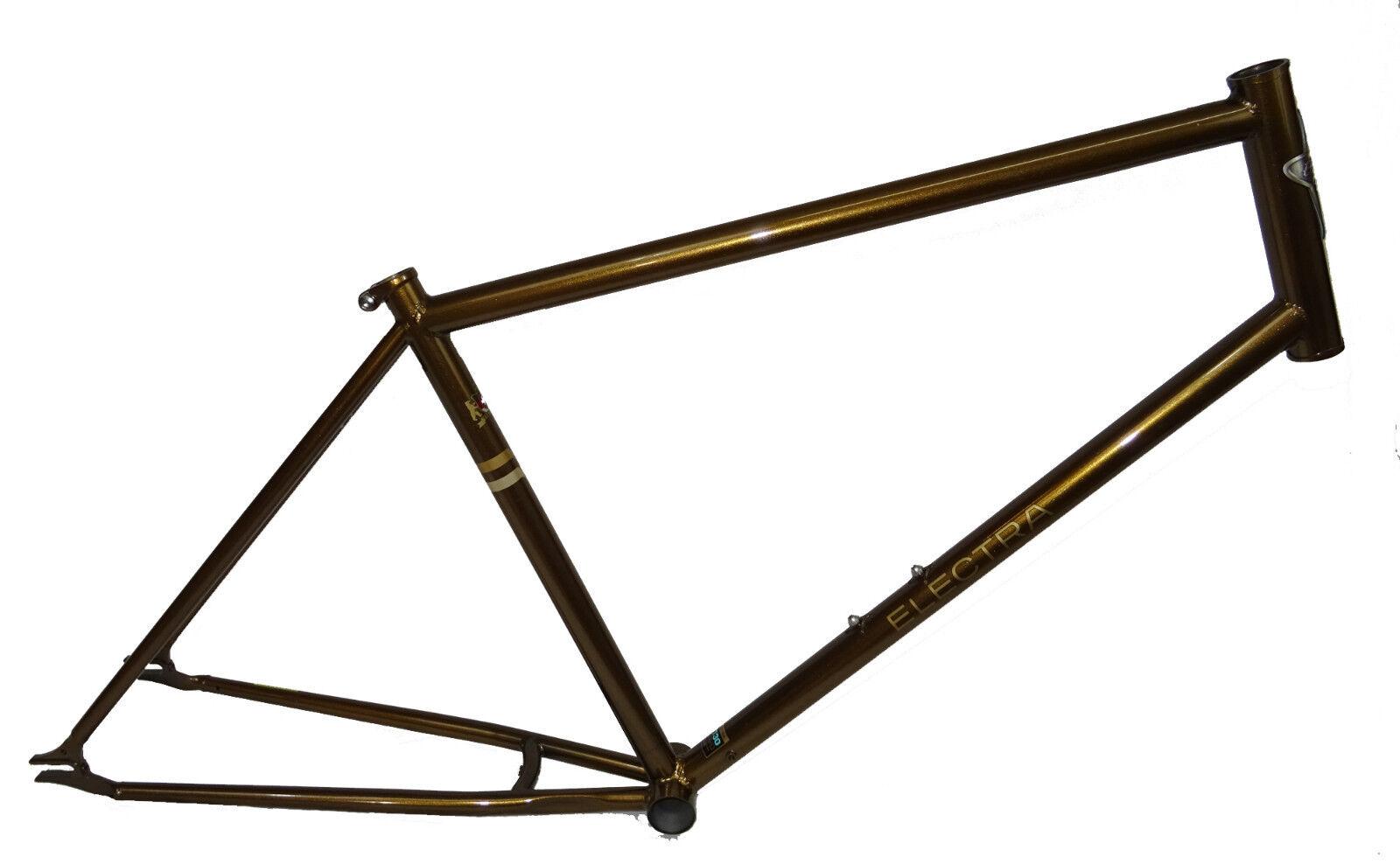 Electra Ticino marco kit conjunto de marcos singelspeed CR-MO, 48cm, bronce metalizado