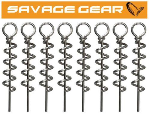 Savage Gear Corkscrew Jigkopf für Kunstköder 8 Korkschrauben für Gummiköder