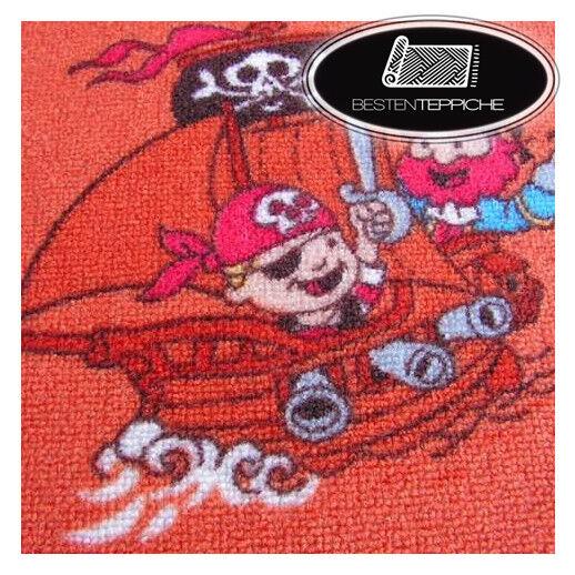 Tapis pour Enfants Petit Pirates Pirate,Enfants,de Jeu,Rouge,Toutes les Tailles