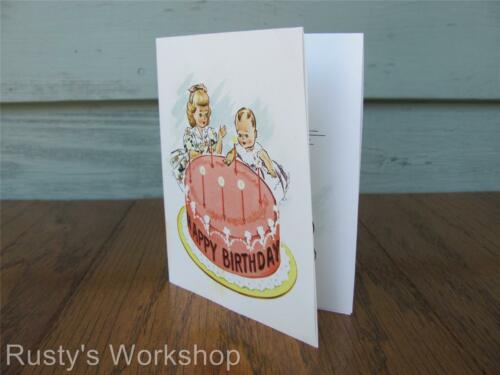 Reproduction 1950s American Character BIRTHDAY CARD from TINY TEARS