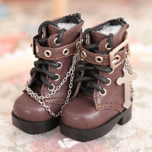 New Brown PU Martin boots Shoes For 1//6 BJD Doll SD Doll