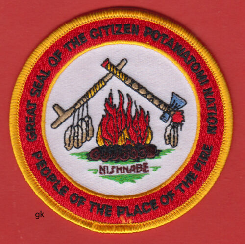 GREAT SEAL OF THE POTAWATOMI NATION PLACE OF FIRE TRIBAL PATCH