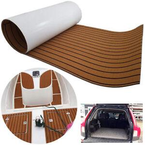 Teak-EVA-Schaum-Boot-Yacht-Bodenbelag-Matte-Deck-Teppich-Selbstklebend-240x55cm