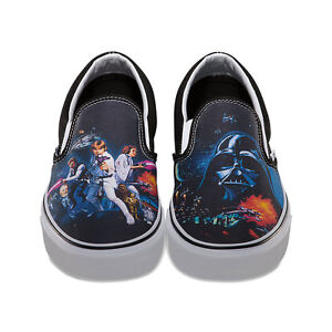 be5b2505b6 VANS x STAR WARS A New Hope Shoes (NEW) Classic Slip On SIZES 8-12 ...