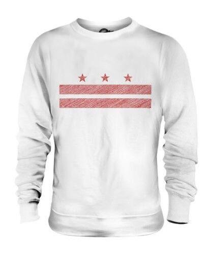 Washingston Dc State Scribble Flag Unisex Pullover Top Geschenk Washingtonian