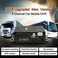 4CH Realtime SD Auto Car Mobile DVR Video Recorder 3G Wireless GPS G-Sensor