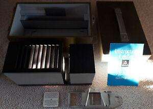 VINTAGE Pentacon Filius 4 Lampada proiettore di diapositive funzionante custodia originale