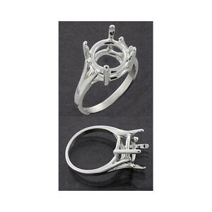 9mm-15mm-Round-Wire-Mount-Sterling-Silver-Ring-Setting-Ring-Size-7