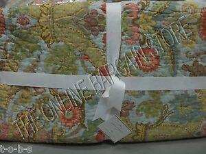Pottery Barn Floral Stripe Spring Genevieve Reversible