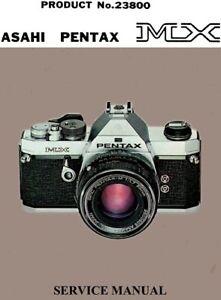 asahi pentax mx service manual free ship ebay rh ebay com Pentax Me Super Pentax K1000