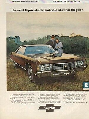 1971 Chevrolet Chevelle color Classic 10x13 Vintage Advertisement Ad LG3