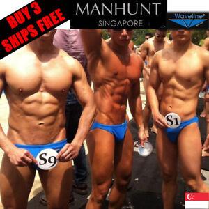 Waveline-ManHunt-Singapore-Men-039-s-Swimwear-Swim-Trunks-Tanga-Bikini-Speedo-Brief