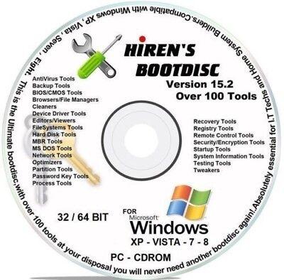 Hiren's Bootable CD 15 2,Ultimate CD, Repair Tools, Recovery, Virus  Removal,   eBay