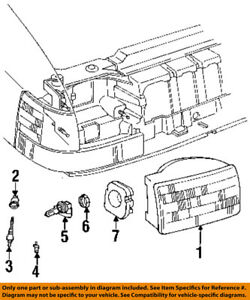 s l300 jeep chrysler oem 93 96 grand cherokee headlight assembly 55155127