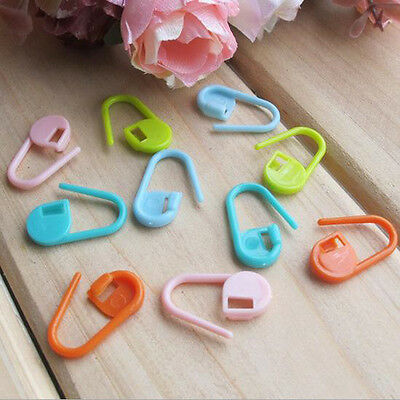 20/50/100Pcs Knitting Craft Crochet Locking Stitch Needle Clip Markers Mixcolor