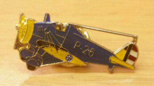 US Navy P-26 Clutchback Aircraft Enamel Lapel Pin