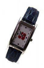 WMC Uhr Classic blue Quarz Leder elegante Damenarmbanduhr Ausstellungsstück