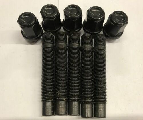 tuerca De Conversión Negro 75 mm se adapta a Audi 57.1 4X100 5 X M12X1.5 Aleación Pernos de rueda