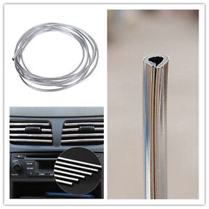 car interior decor door chrome moulding trim strip u style 4m silver ebay. Black Bedroom Furniture Sets. Home Design Ideas