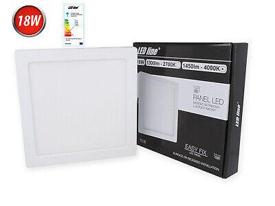 18w Led Panel Deckenlampe Aufputzleuchte Spot Warmweiß Neutralweiß 1300 Lm Eckig