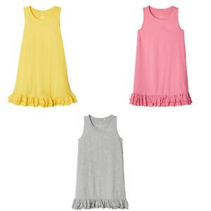 Name It Nkfvione Tank Dress Kleid Einfarbig Grau Gelb Oder Pink Ebay