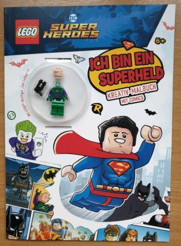 Lego® DC Super Heroes Lex Luthor Minifigur mit Kreativ-Malbuch Neu OVP