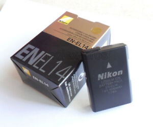 New-Camera-Battery-EN-EL14-For-Nikon-P7000-D3100-D3200-D5100-1030Mah