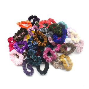 Gomas-para-el-pelo-40X-Bandas-Elasticas-Para-Cabello-Broche-De-Terciopelo-Lazos-para-el-cabello