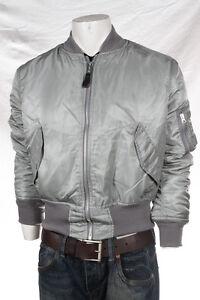 Alpha-Industries-Jacke-Bomberjacke-MA-1-Silber-Vintage-Fliegerjacke-Herren-5006