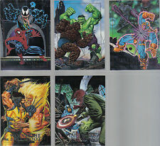 MARVEL MASTERPIECES 1992 SET OF 5 SPECTRA ETCH CARDS