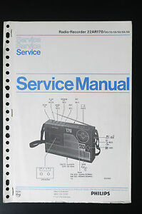 Details about Philips Radio Recorder 22ar170 Original Service Manual/Guide/ on