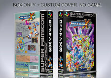 MEGAMAN X 3. JAPAN VERSION. Box/Case. Super Nintendo. BOX + COVER. (NO GAME)