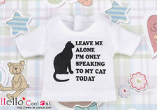☆╮Cool Cat╭☆【PR-94】Blythe Pullip Doll Print Tee (Leave Me Alone) # White