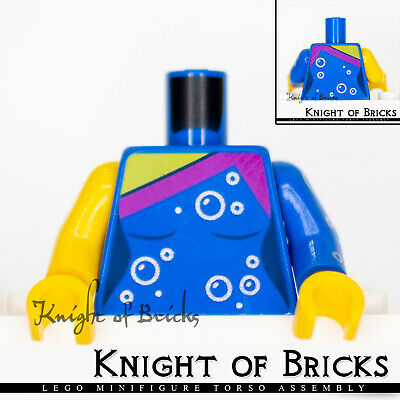 Lego New Dark Pink Minifig Torso Batman Female Logo Magenta Oval and Silver Belt