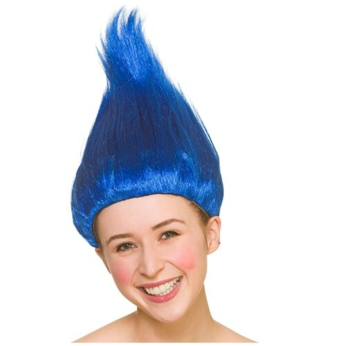 Troll Wig Sticky Up Hair Up Wig Troll Doll Gnome Womens Fancy Dress Costume
