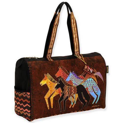 caballos La asas de viaje de la de los Burch de bolsa nativos lona grande Laurel del wwErpB6xq4