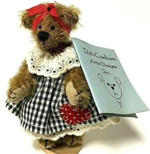 "Deb Canham SUSIE Limited Edition 3.5"" Miniature Mohair Teddy Bear"