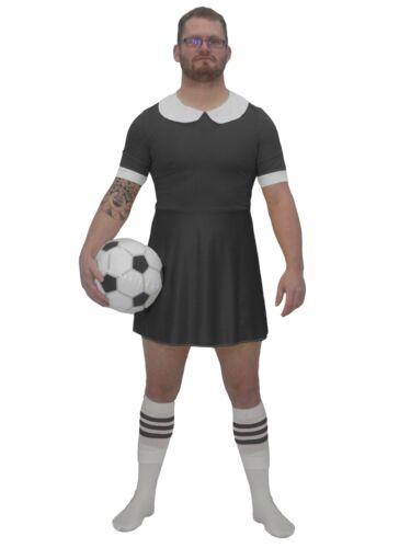 Mens Black Football Dress Costume Funny Soccer Fancy Dress World Cup UK