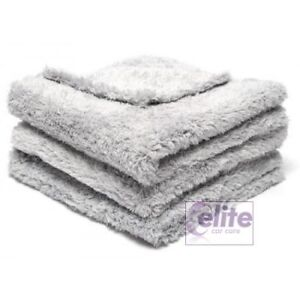CarPro-BOA-500GSM-DarkGrey-Plush-Edgeless-Microfibre-Towel-16x24-Pack-of-Three