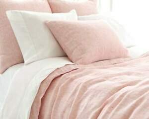 Pine-Cone-Hill-Bonaire-Linen-Standard-Sham-Pink-and-White