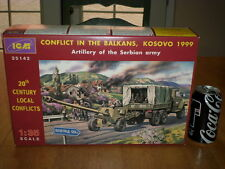 BALKANS WAR - URAL 4320 MILITARY TRUCK & BS-3 100mm GUN, Plastic Model Kit, 1:35