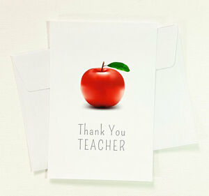 5 thank you apple teacher greeting cards to appreciation thanks card image is loading 5 thank you apple teacher greeting cards to m4hsunfo